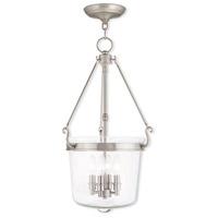 Livex 50486-91 Rockford 4 Light 14 inch Brushed Nickel Pendant Ceiling Light