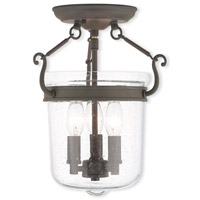 Livex Lighting Winchester 3 Light Flush Mount in Bronze 50491-07