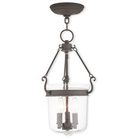 Livex 50492-07 Winchester 3 Light 11 inch Bronze Pendant Ceiling Light