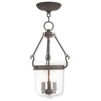 Livex 50492-07 Winchester 3 Light 11 inch Bronze Pendant Ceiling Light