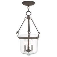 Livex 50494-07 Winchester 3 Light 12 inch Bronze Pendant Ceiling Light