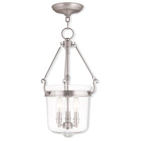 Livex 50494-91 Winchester 3 Light 12 inch Brushed Nickel Pendant Ceiling Light