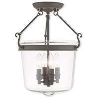 Livex Lighting Winchester 4 Light Flush Mount in Bronze 50495-07