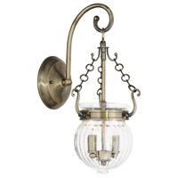 Livex 50501-01 Everett 2 Light 15 inch Antique Brass Wall Sconce Wall Light