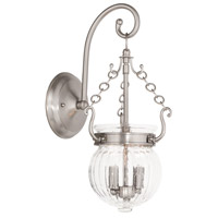 Livex 50501-91 Everett 2 Light 15 inch Brushed Nickel Wall Sconce Wall Light