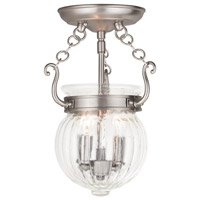 Livex 50502-91 Everett 2 Light 9 inch Brushed Nickel Flush Mount Ceiling Light