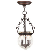 Livex 50503-67 Everett 2 Light 9 inch Olde Bronze Pendant Ceiling Light