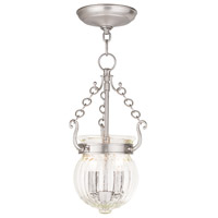 Livex 50503-91 Everett 2 Light 9 inch Brushed Nickel Pendant Ceiling Light