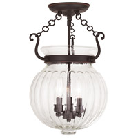 Livex Everett 3 Light Flush Mount in Olde Bronze 50504-67