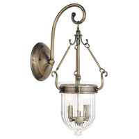 Livex 50511-01 Coventry 2 Light 8 inch Antique Brass Wall Sconce Wall Light