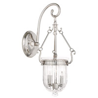 Coventry 2 Light 8 inch Polished Nickel Wall Sconce Wall Light