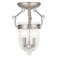 Livex 50512-91 Coventry 2 Light 9 inch Brushed Nickel Flush Mount Ceiling Light