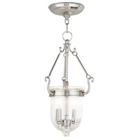 Livex 50513-35 Coventry 2 Light 9 inch Polished Nickel Pendant Ceiling Light