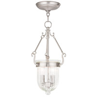 Livex 50513-91 Coventry 2 Light 9 inch Brushed Nickel Pendant Ceiling Light