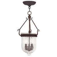 Livex 50515-07 Coventry 3 Light 10 inch Bronze Pendant Ceiling Light photo thumbnail