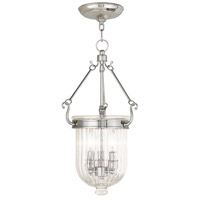 Livex 50515-35 Coventry 3 Light 10 inch Polished Nickel Pendant Ceiling Light