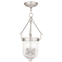Coventry 3 Light 10 inch Brushed Nickel Pendant Ceiling Light