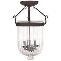 Livex Coventry 3 Light Flush Mount in Bronze 50516-07