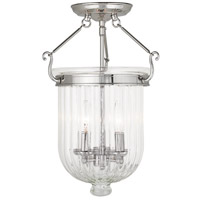 Livex Coventry 3 Light Flush Mount in Polished Nickel 50516-35