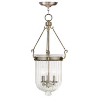 Livex 50517-01 Coventry 3 Light 12 inch Antique Brass Pendant Ceiling Light