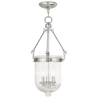 Livex 50517-35 Coventry 3 Light 12 inch Polished Nickel Pendant Ceiling Light