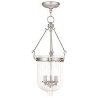Coventry 3 Light 12 inch Brushed Nickel Pendant Ceiling Light
