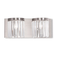 Livex 50532-91 Ashton 2 Light 17 inch Brushed Nickel Bath Vanity Wall Light