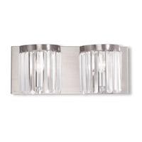 Livex Ashton 2 Light Vanity Light in Brushed Nickel 50532-91
