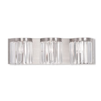 Livex Ashton 3 Light Vanity Light in Brushed Nickel 50533-91