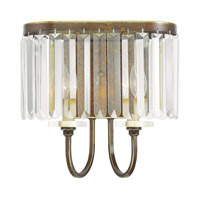 Livex 50542-64 Ashton 2 Light 8 inch Hand Painted Palacial Bronze Wall Sconce Wall Light