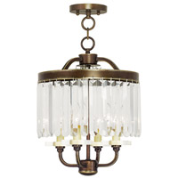 Livex Ashton 4 Light Convertible Mini Chandelier in Hand Painted Palacial Bronze 50543-64