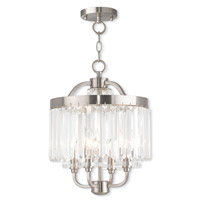Livex 50543-91 Ashton 4 Light 13 inch Brushed Nickel Convertible Mini Chandelier/Semi Flush Mount Ceiling Light