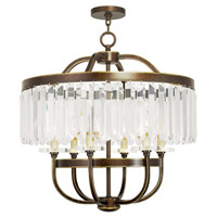 Livex 50546-64 Ashton 6 Light 24 inch Hand Painted Palacial Bronze Chandelier Ceiling Light