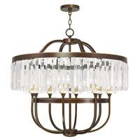 Livex 50549-64 Ashton 8 Light 32 inch Hand Painted Palacial Bronze Chandelier Ceiling Light