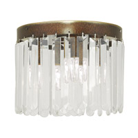 Livex Ashton 3 Light Flush Mount in Hand Painted Palacial Bronze 50552-64