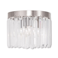 Livex Ashton 3 Light Flush Mount in Brushed Nickel 50552-91