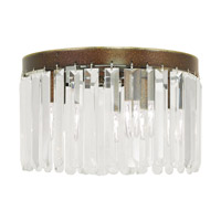 Livex Ashton 4 Light Flush Mount in Hand Painted Palacial Bronze 50553-64