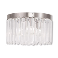 Livex 50553-91 Ashton 4 Light 13 inch Brushed Nickel Flush Mount Ceiling Light