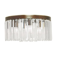 Livex 50554-64 Ashton 5 Light 16 inch Hand Painted Palacial Bronze Flush Mount Ceiling Light