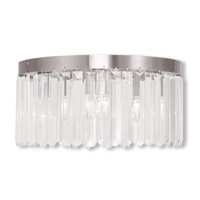 Livex 50554-91 Ashton 5 Light 16 inch Brushed Nickel Flush Mount Ceiling Light