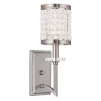 Livex Grammercy 1 Light Wall Sconce in Brushed Nickel 50561-91