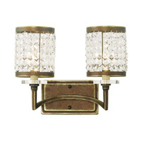 Livex Grammercy 2 Light Vanity Light in Hand Painted Palacial Bronze 50562-64