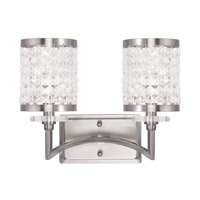 Livex 50562-91 Grammercy 2 Light 9 inch Brushed Nickel Vanity Light Wall Light