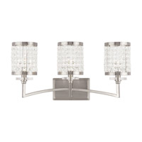 Livex Grammercy 3 Light Vanity Light in Brushed Nickel 50563-91