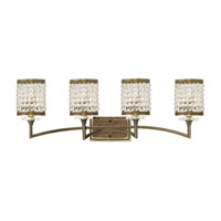 Livex Grammercy 4 Light Vanity Light in Hand Painted Palacial Bronze 50564-64