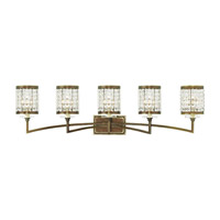 Livex Grammercy 5 Light Vanity Light in Hand Painted Palacial Bronze 50565-64