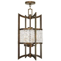 Livex 50566-64 Grammercy 4 Light 12 inch Hand Painted Palacial Bronze Foyer Lantern Ceiling Light