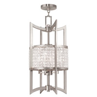 Livex 50566-91 Grammercy 4 Light 12 inch Brushed Nickel Foyer Lantern Ceiling Light