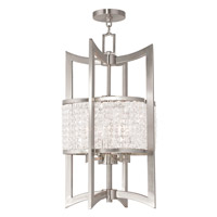 Livex 50567-91 Grammercy 4 Light 14 inch Brushed Nickel Foyer Lantern Ceiling Light