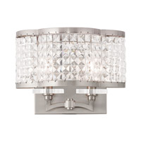 Livex Grammercy 2 Light Wall Sconce in Brushed Nickel 50568-91